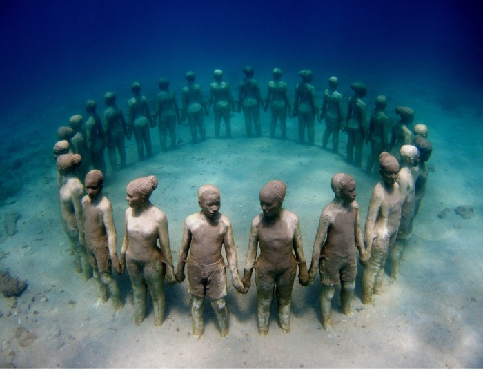 [Image of the Day] Grenada's Underwater sculptures: A tribute to fallen African slaves